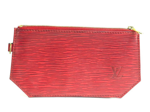 Louis Vuitton Red Epi Geometric Sac Pouch Pochette 857616