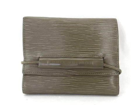 LOUIS VUITTON Taupe Pepper Port Monet Elastic 226604 Wallet