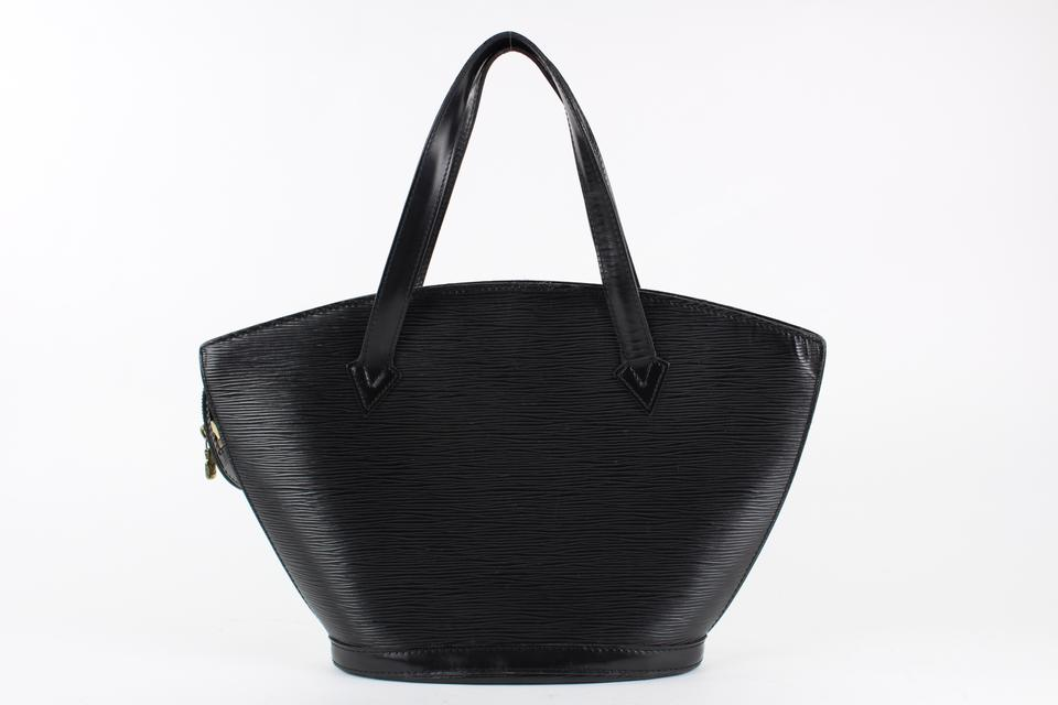 Louis Vuitton Black Saint Jacques Zip Tote Bag 2lvs1228