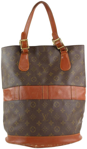 Louis Vuitton Monogram Marais Bucket GM Tote Bag 4lvs1224