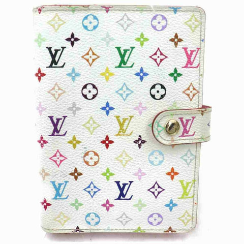 Louis Vuitton White Multicolor Small Ring Agenda PM 860426