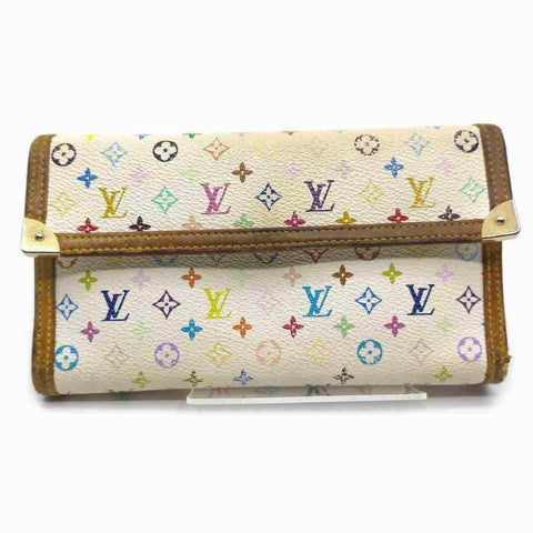 Louis Vuitton White Multicolor Sarah Wallet International Trifold 867354