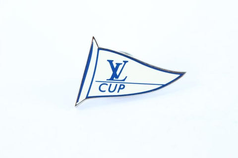 Louis Vuitton Enamel LV Cup Flag Pin 10LT114