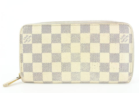 Louis Vuitton Damier Azur Zippy Wallet Zip Around 4lvs17