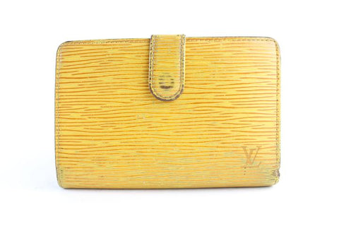 Louis Vuitton Yellow Epi Kisslock Wallet 15LR0701