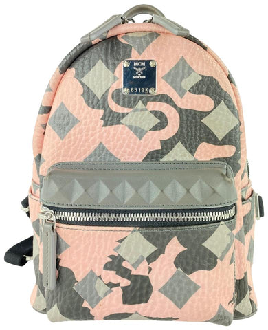 MCM Pink Lion Camo Mini Stark Backpack 6MCM1022