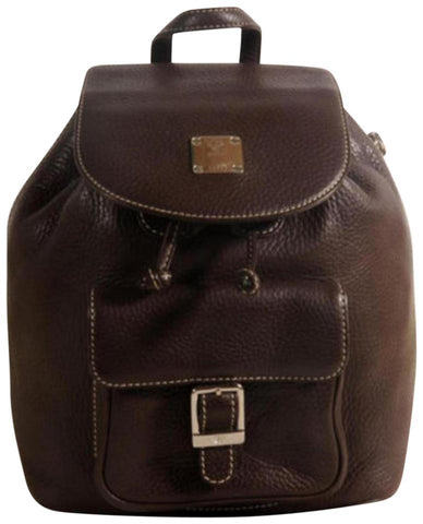 MCM Rare Chocolate Brown Leather Backpack 869707