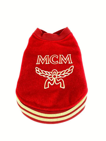 MCM Red Varsity Dog Sweater 5mcmm128