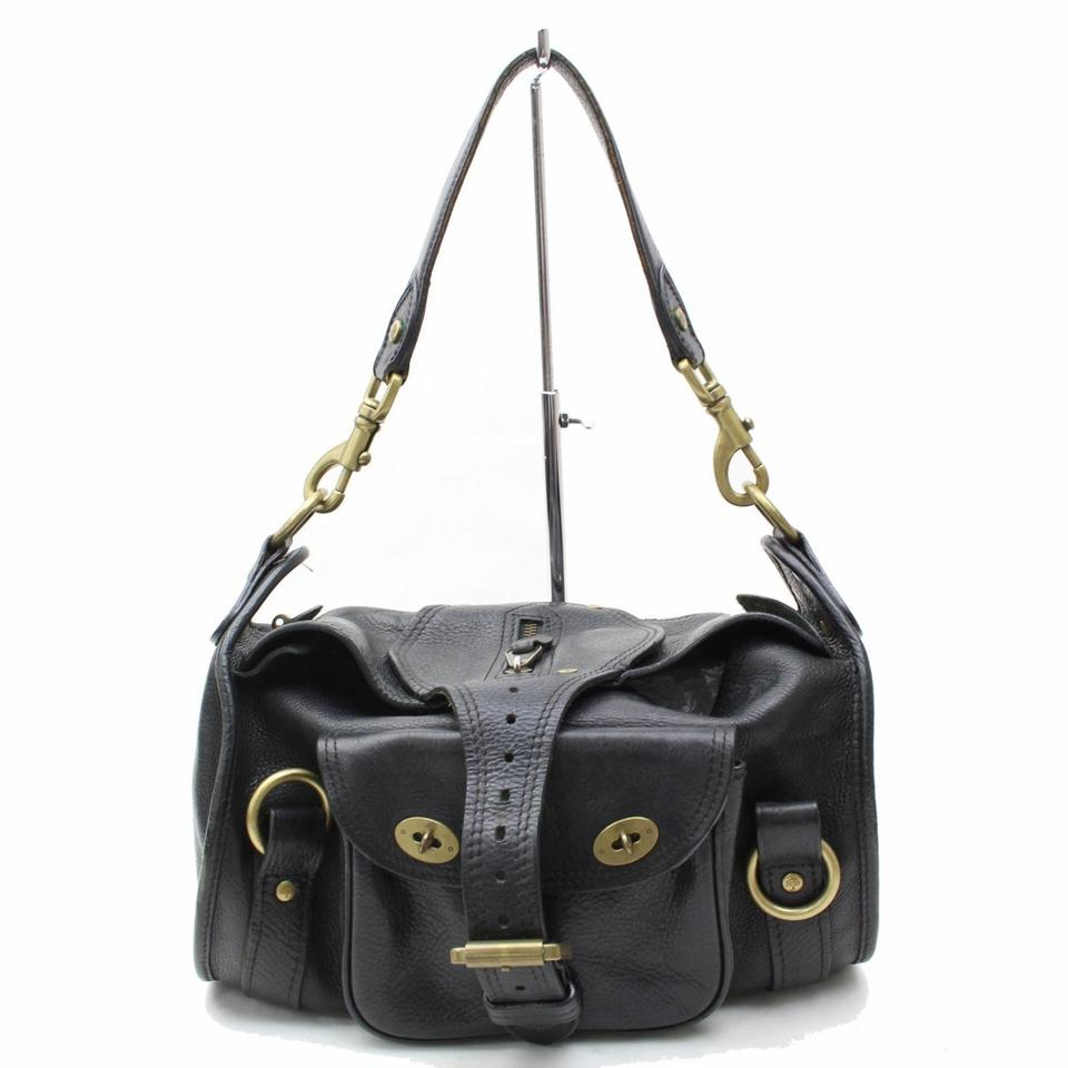 Mulberry Black Leather Buckle 865601 Shoulder Bag