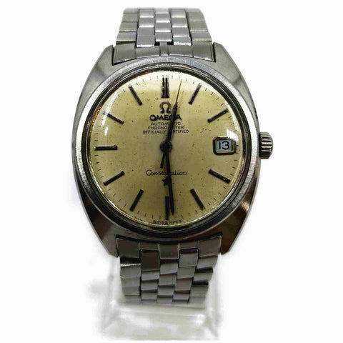 Omega Silver Constellation Day Date Watch 861280
