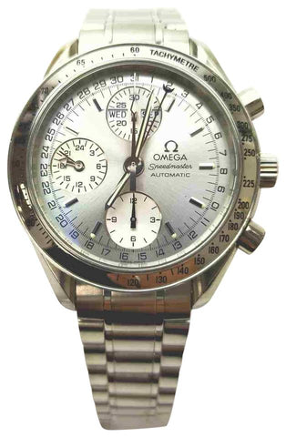 Omega  Silver 175.0084 Speedmaster Chronograph Watch 861271