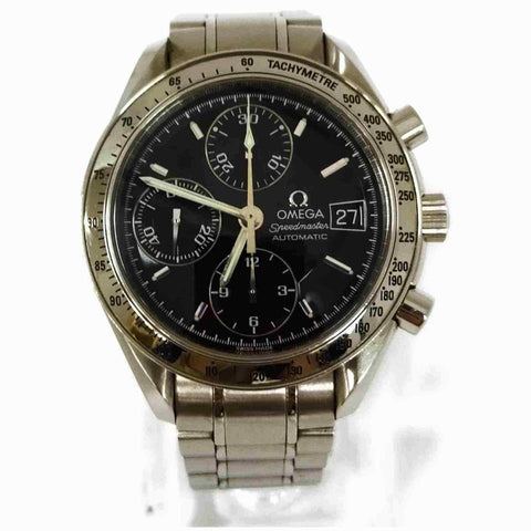 Omega Silver x Black 3513.5 Speedmaster Chronograph Watch 86092