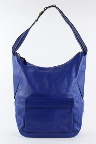 Pour La Victoire Blue Leather Hobo Bag 3PV1218