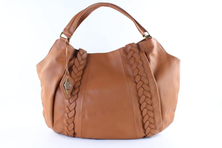 Rachel Zoe Brown Leather Extra Large 11mr0124 Hobo Bag