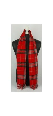 Red Plaid Scarf Classic 871888