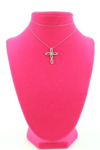 Other 925 Silver Cross Necklace 117ot128
