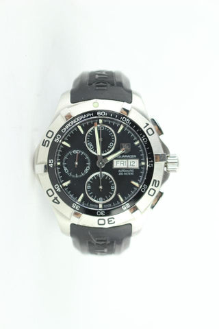 TAG Heuer Silver 2000 Aquaracer Day-date Chronograph Stainless Steel 26mz0129 Watch