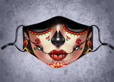 Day Of The Dead Female Face Mask