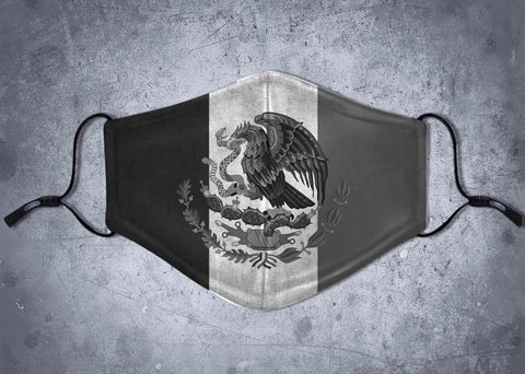 Mexico Black & White -Face Mask