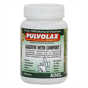 Pulvolax is an effective and efficient mixture of different natural herbs to exert laxative action, bowel regularising, stool bulking, GIT toning