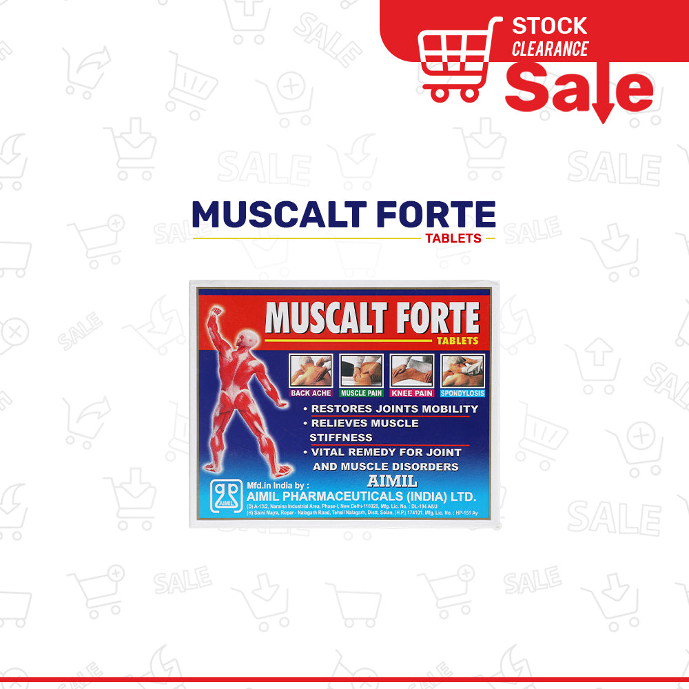 Muscalt Forte Tab (Stock Clearance Sale)