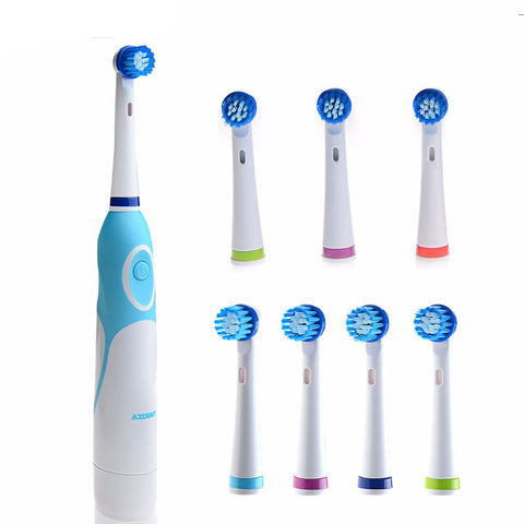 Rotation Electric Toothbrush with 8 Brush Head - UYL Online Store