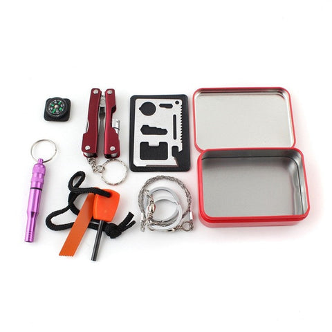 Survival Emergency Gear Box Kit Multifunction Equipment