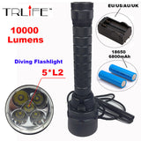 Stepless Dimming Torch 5 x L2 Diving LED Flashlight - Underwater Waterproof Tactical Flashlight - UYL Online Store