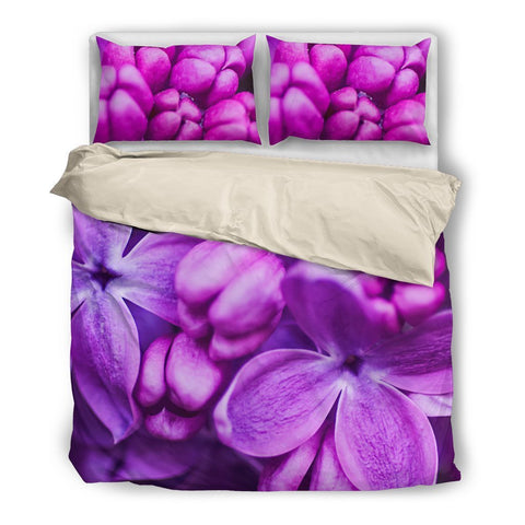 Purplish Floral Bedding Set
