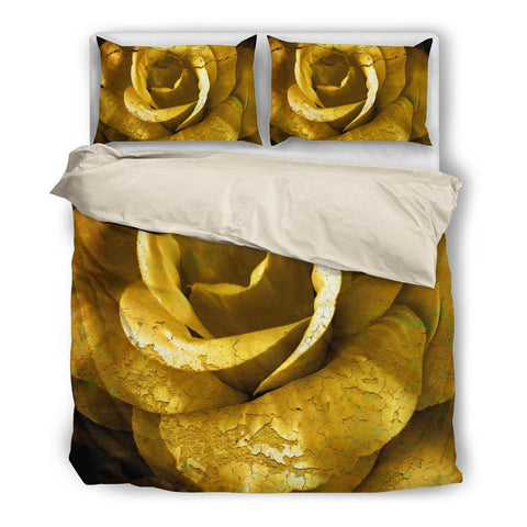 Yellow Gold Floral Bedding Set - UYL Online Store