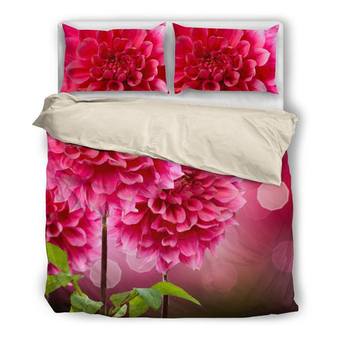 Straight Pink Bedding Set