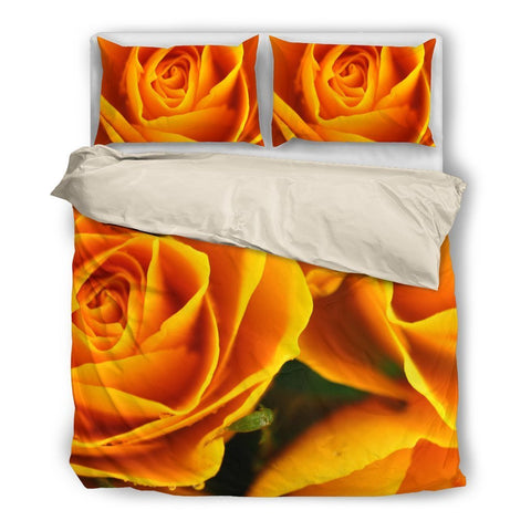 Yellow Floral Bedding Set