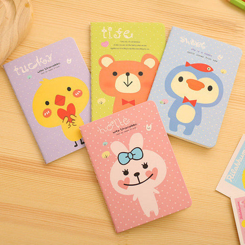 Rabbit Bear Mini Pocket Cute Animal Notebook Planner