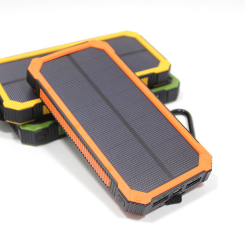 Travel Waterproof Solar Power Bank Dual USB External Battery Solar Charger Powerbank With LED Camp Light - UYL Online Store