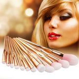 Rose Gold Makeup Brushes 12 Piece Set - UYL Online Store