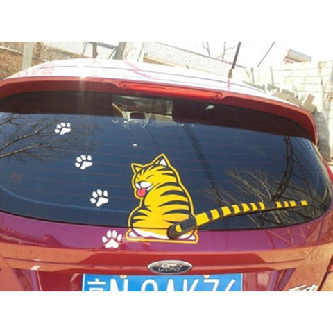 Car Rear Windshield Window Wiper Stickers Pet Cat - UYL Online Store