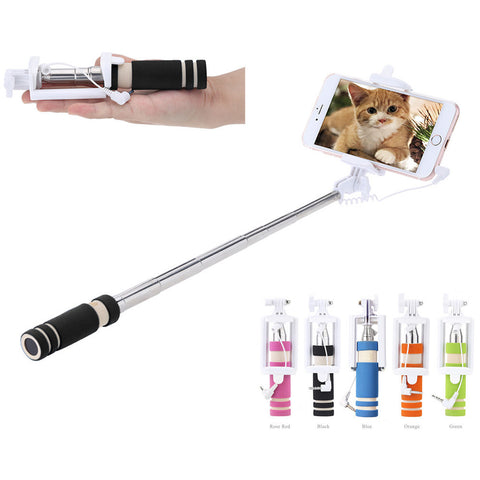 Portable Mini Folding Mobile phone Wired self Selfie Stick FREE plus Shipping Offer