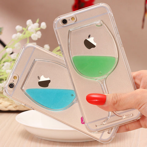 Wine Glass Hard PC Case For iPhone