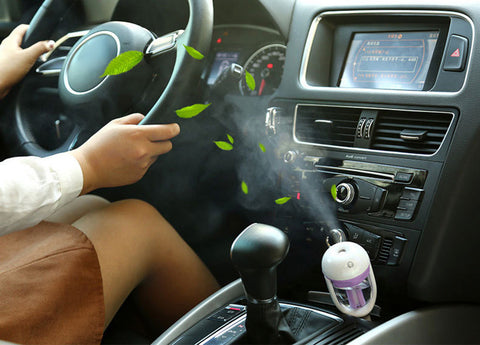 Mini Car Steam Humidifier Air Purifier and Aroma Diffuser