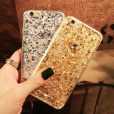 Gold Foil Soft Silicon Case for iPhone - UYL Online Store