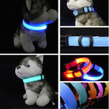 Nylon Pet LED Dog Collar Night Safety LED Flashing Glow LED - UYL Online Store