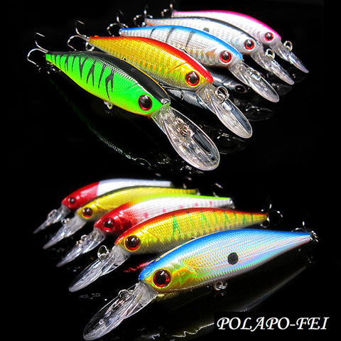 Wobbler Fishing Lure - 10 pieces