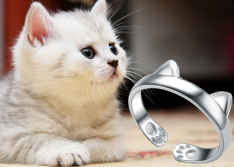 Silver Plated Cat Ring FREE plus Shipping Offer - UYL Online Store