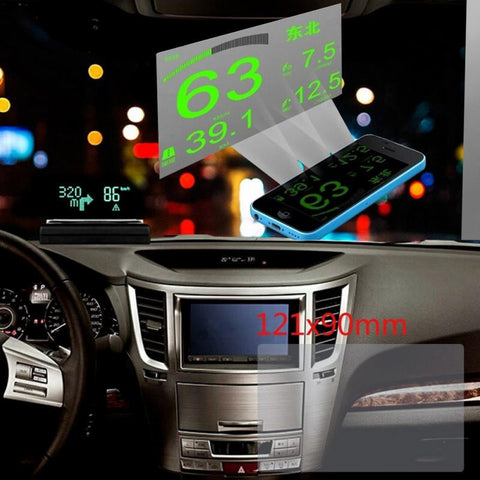 Universal Car Auto HUD Heads Up Display with Reflective Film Protector (No Mucilage + Easy Removed) - UYL Online Store
