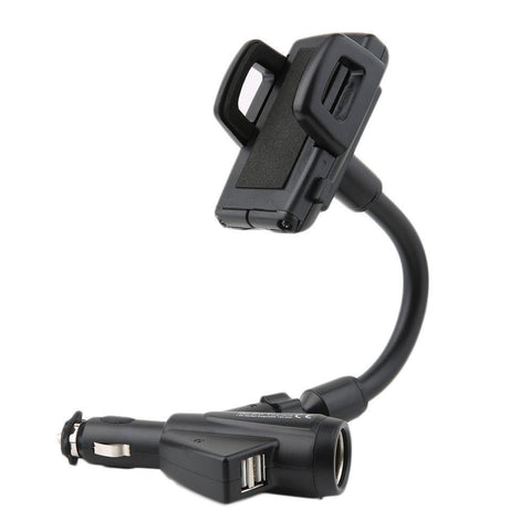 Dual USB Car Cigarette Lighter Socket Charger Mount - UYL Online Store