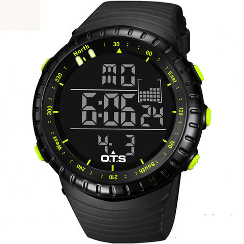 Large Face Clock Digital-Watch For Men