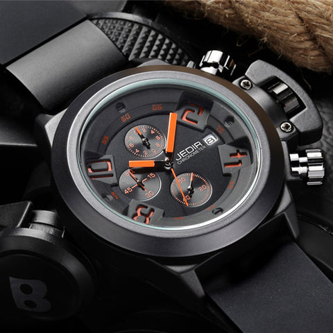 JEDIR 2002 6 Hands Function Sports Watch