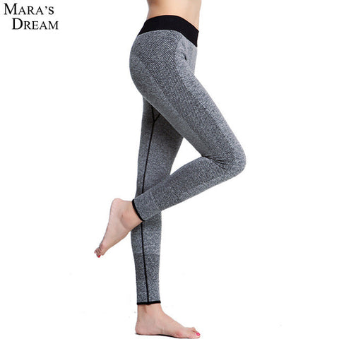 Women Yoga Sports Pants Elastic Wicking Force Exercise Tights Female Sports Elastic Fitness Running Trousers Slim Leggings
