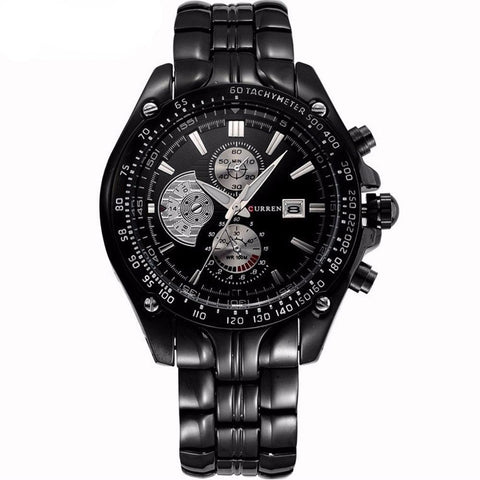 Black and Silver Men's Fashion Watch