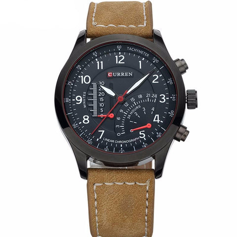 Water Resistant Genuine Leather Men's Watch - UYL Online Store